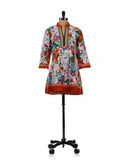 Floral Anarkali Style Kurti - WILD WOMAN