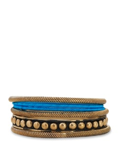 Blue and gold bangle set - Trinketbag