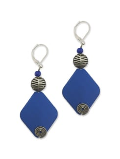 Cobalt Diamond Bead Earrings - Eesha Zaveri; Jewellery By Design