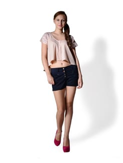 Navy Blue Casual Shorts - MARTINI
