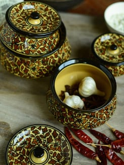 Moroccon Handi Set With Lid - Set Of 4 - Cultural Concepts