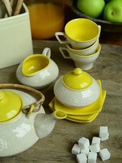 Italian Tea Set- Cane Handle- Set Of 15pcs - Cultural Concepts