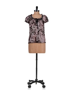 Brown Trendy Top - Ayaany