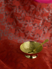 Gold plated allure single bowl
