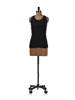 Black Dotted Tank Top - Femella