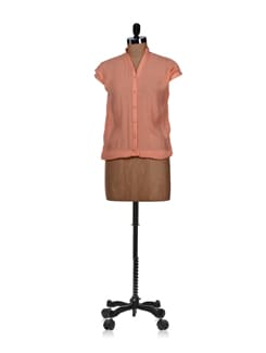 Peach Balloon Shirt - Femella