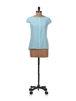 Tiffany Blue Single Pleat Top - Femella