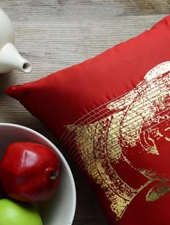 Buddha Print Cushion Cover - AMOROSA