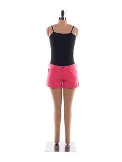 Bright Pink Cotton Shorts - Chemistry