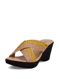 Yellow-beige Wedge Heels - La Briza