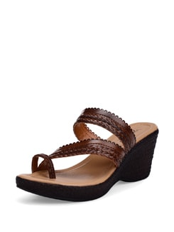 Dark Brown Wedge Heels - La Briza