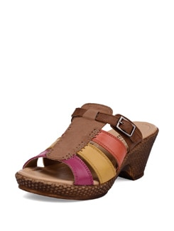 Multicoloured Beige Wedge Heels - La Briza