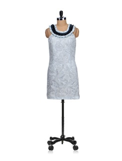 Gorgeous Grey Cotton Print Dress - SPECIES