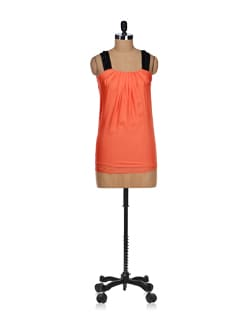 Flowy Orange Sleeveless Top - SPECIES