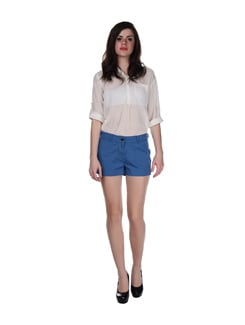 Teal Blue Semi Formal Shorts - SPECIES