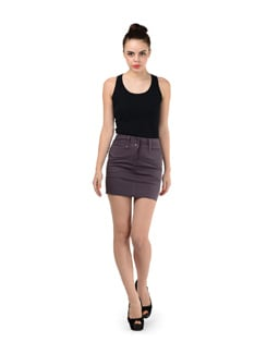 Purple Cotton Skirt - SPECIES