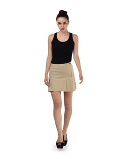 Beige Pleated Skirt - SPECIES