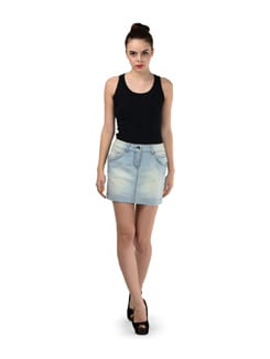 Denim Short Skirt - SPECIES
