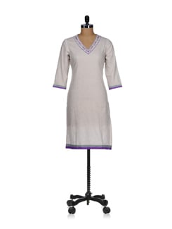 Embroidered Kurta - Cotton Curio