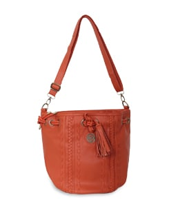 Orange Shoulder Bag - Lino Perros
