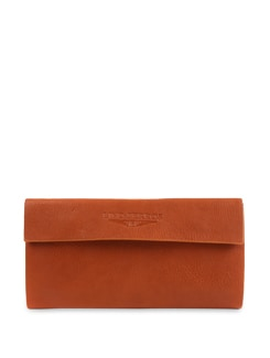 Orange Three Fold Wallet - Lino Perros