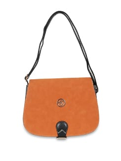 Orange And Black Sling Bag - Lino Perros