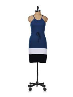Strappy Indigo Dress - GRITSTONES