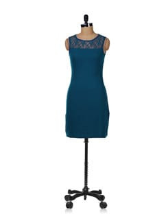 Indigo Lace Dress - GRITSTONES
