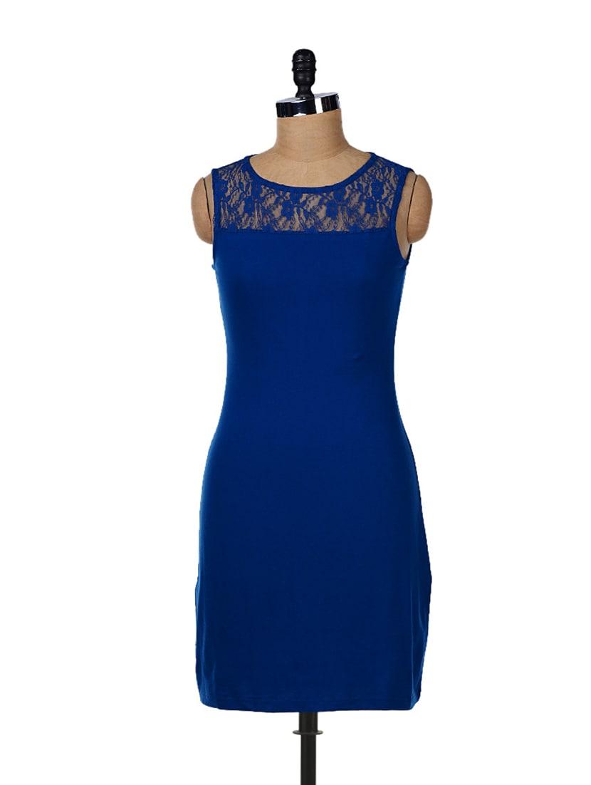 Indigo Lace Dress - GRITSTONES