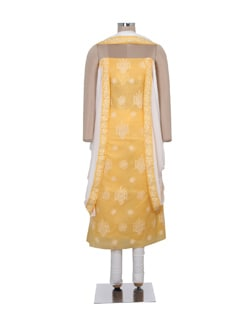 elegant yellow chikankari dress material - Ada