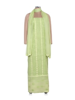 Light Green Dress Material - Ada