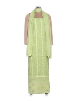 Light Green Dress Material - Ada