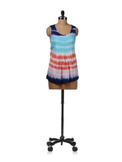 Tie Dyed Pleated Top - Kaxiaa