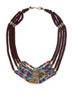 Multicoloured Beaded Designer Necklace - Art Mannia