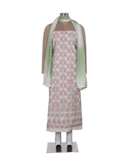 Multi Hued Floral Chikankari Suit Piece - Ada