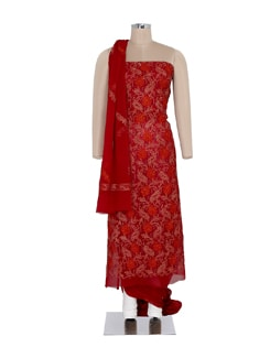 Maroon Embroidered Suit Piece Set - Ada