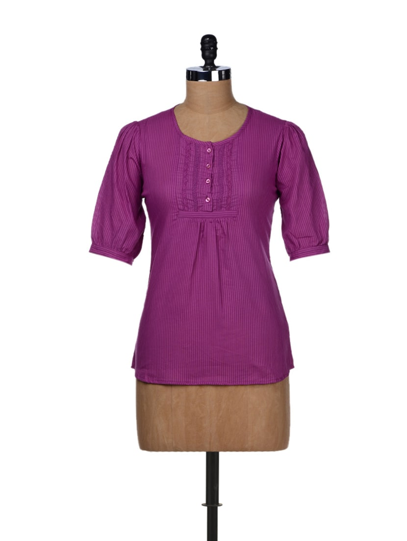 Stylish Cotton Top - STYLE QUOTIENT BY NOI