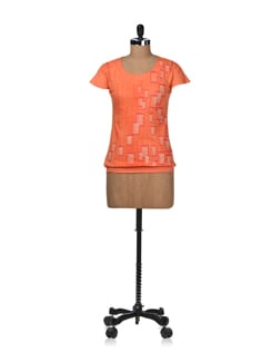 Bright Orange Top - STYLE QUOTIENT BY NOI