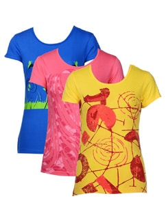 Smart graphic tees-pack of 3 - STYLE QUOTIENT BY NOI