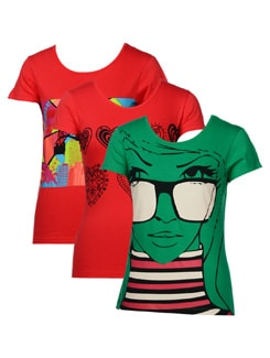 Fun Summers Tees-pack Of 3 - STYLE QUOTIENT BY NOI