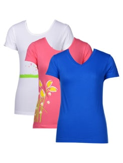 Casual Tees-pack Of 3 - STYLE QUOTIENT BY NOI