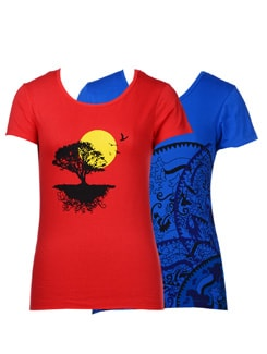 Casual Tees-Pack Of 2 - STYLE QUOTIENT BY NOI