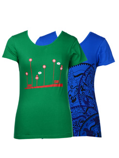 Basic Printed Tees-pack Of 2 - STYLE QUOTIENT BY NOI