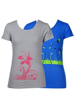 Sassy graphic print tees- pack of 2 - STYLE QUOTIENT BY NOI