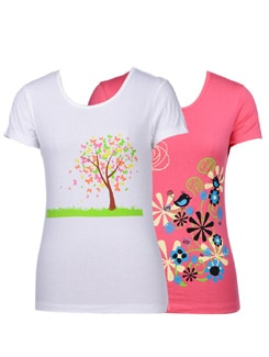 Summer Prints-pack Of 2 T-shirts - STYLE QUOTIENT BY NOI