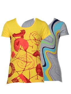 Stylish graphic print tees- pack of 2 - STYLE QUOTIENT BY NOI
