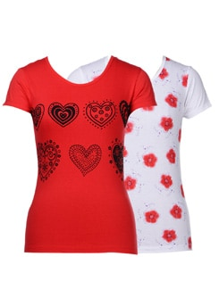 Cool prints- t-shirts in a pack of 2 - STYLE QUOTIENT BY NOI