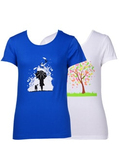 Graphic print tees-pack of 2 - STYLE QUOTIENT BY NOI