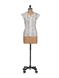 Abstract Print Top - Osia Italia
