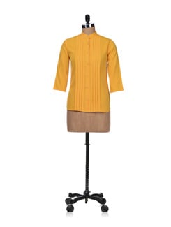 Yellow Gage- Pleated Shirt - Besiva